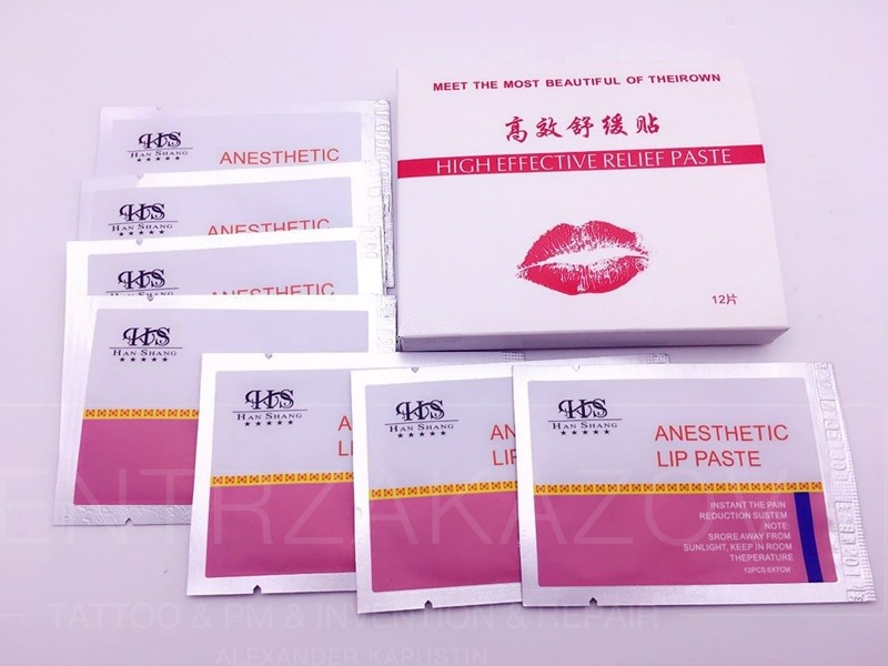 Anesthetic lip paste